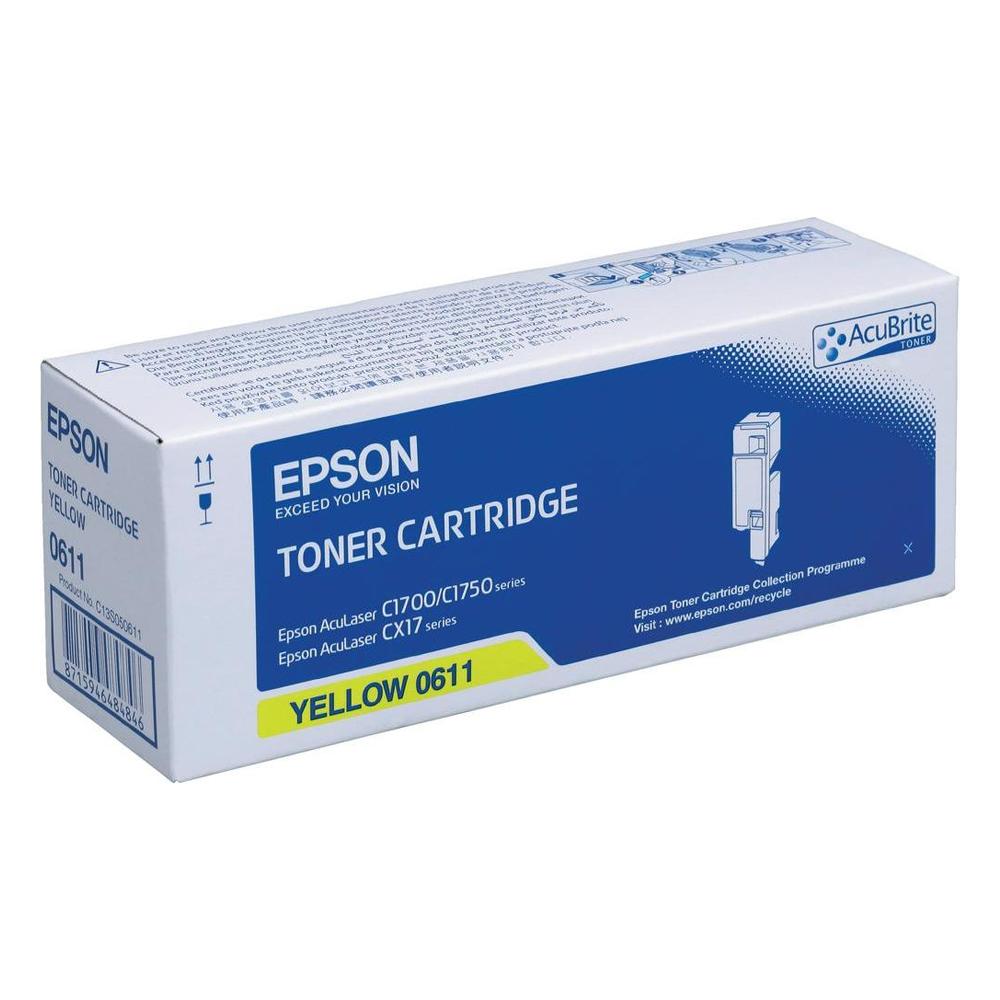 EPSON ACULASER C1700, CX17 TNR HC YELLOW (C13S050611) (EPSSO50611)