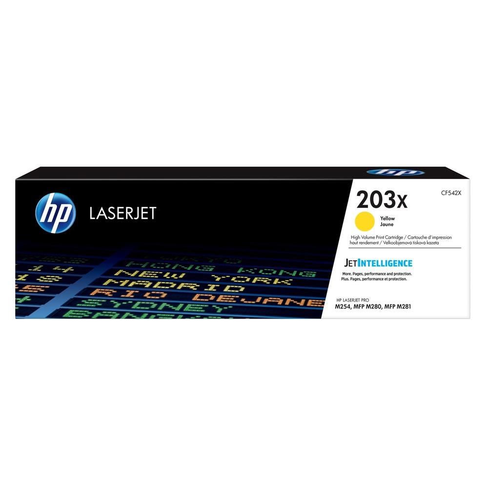 HP 203X LaserJet HC Yellow Toner (2.5k) (CF542X) (HPCF542X)