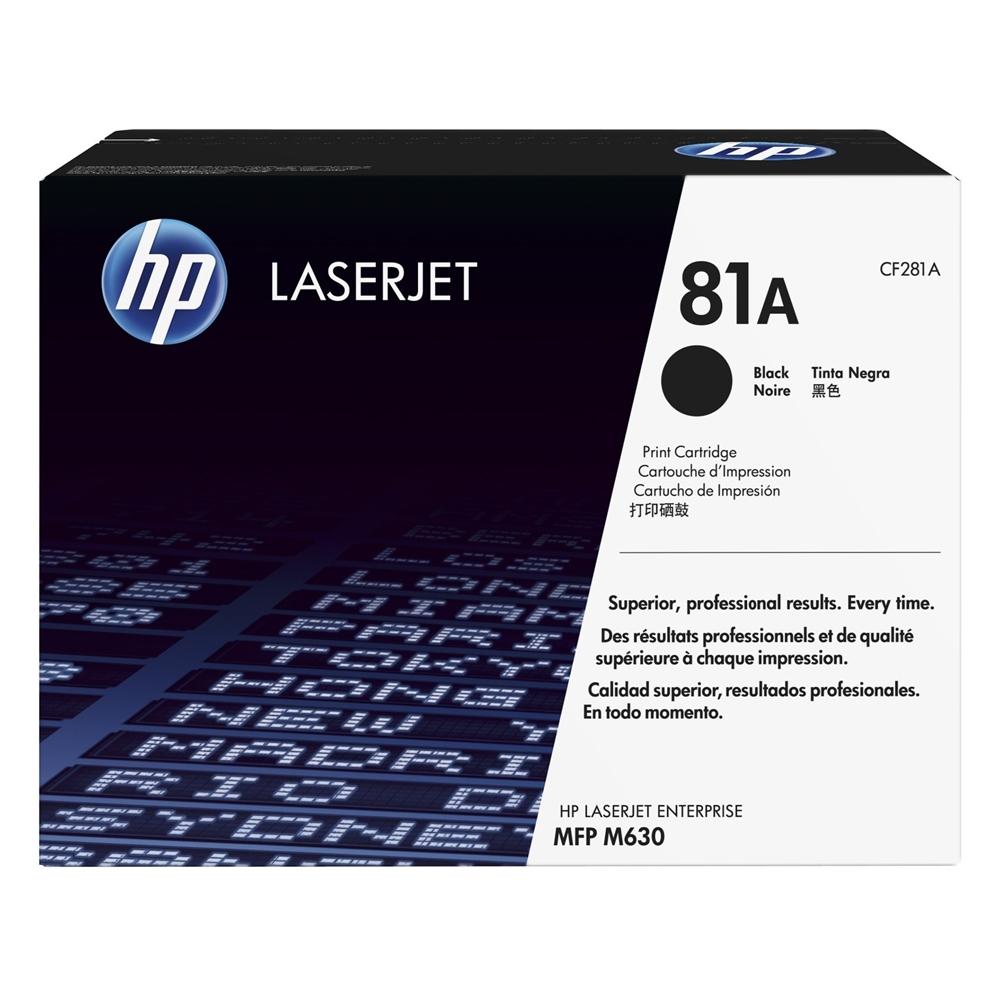 HP Toner 81A LJ M630 Black (10.5k) (CF281A) (HPCF281A)