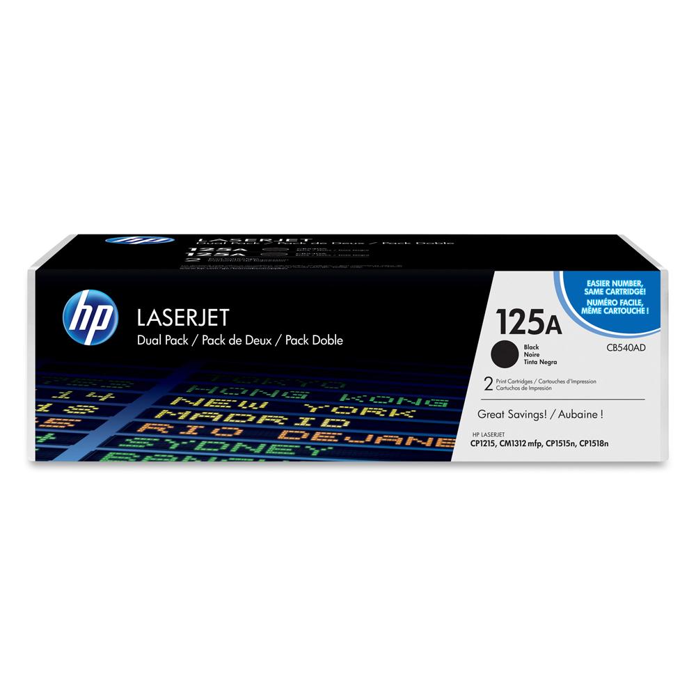 HP LasetJet CP1215/1515 Black Toner Crg 125A Dual Pack (CB540AD) (HPCB540AD)