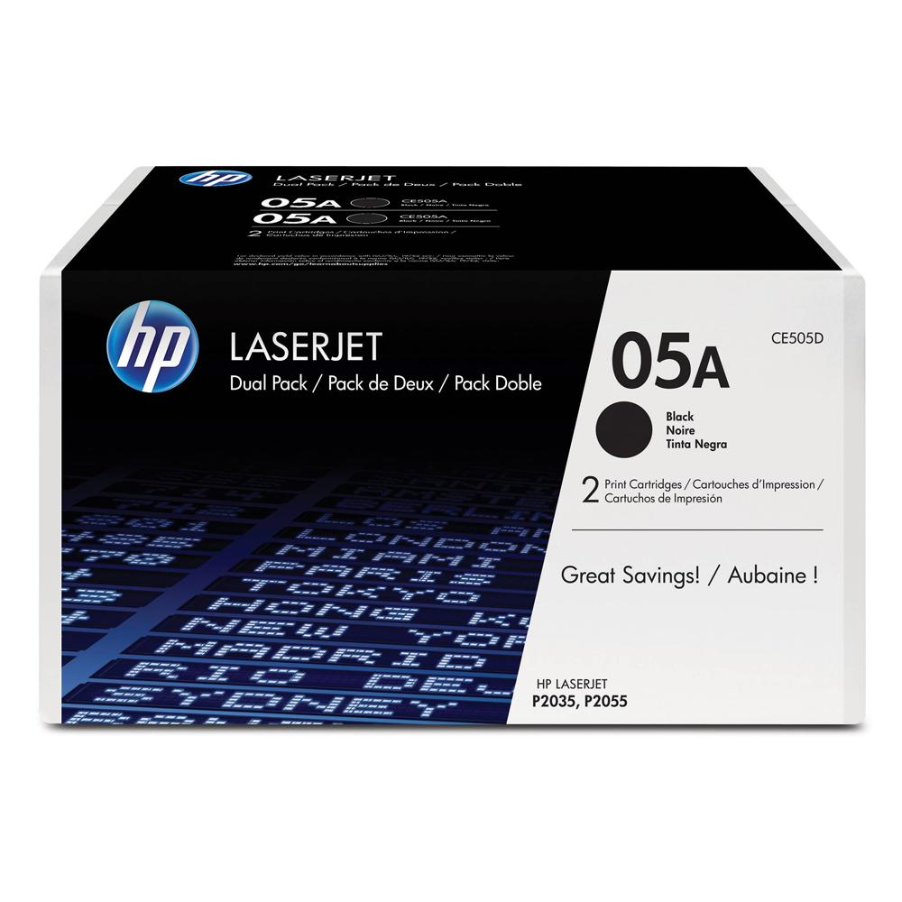 HP TONERCART. LJ P2035/2055 BLACK DUAL PACK (CE505D) (HPCE505D)