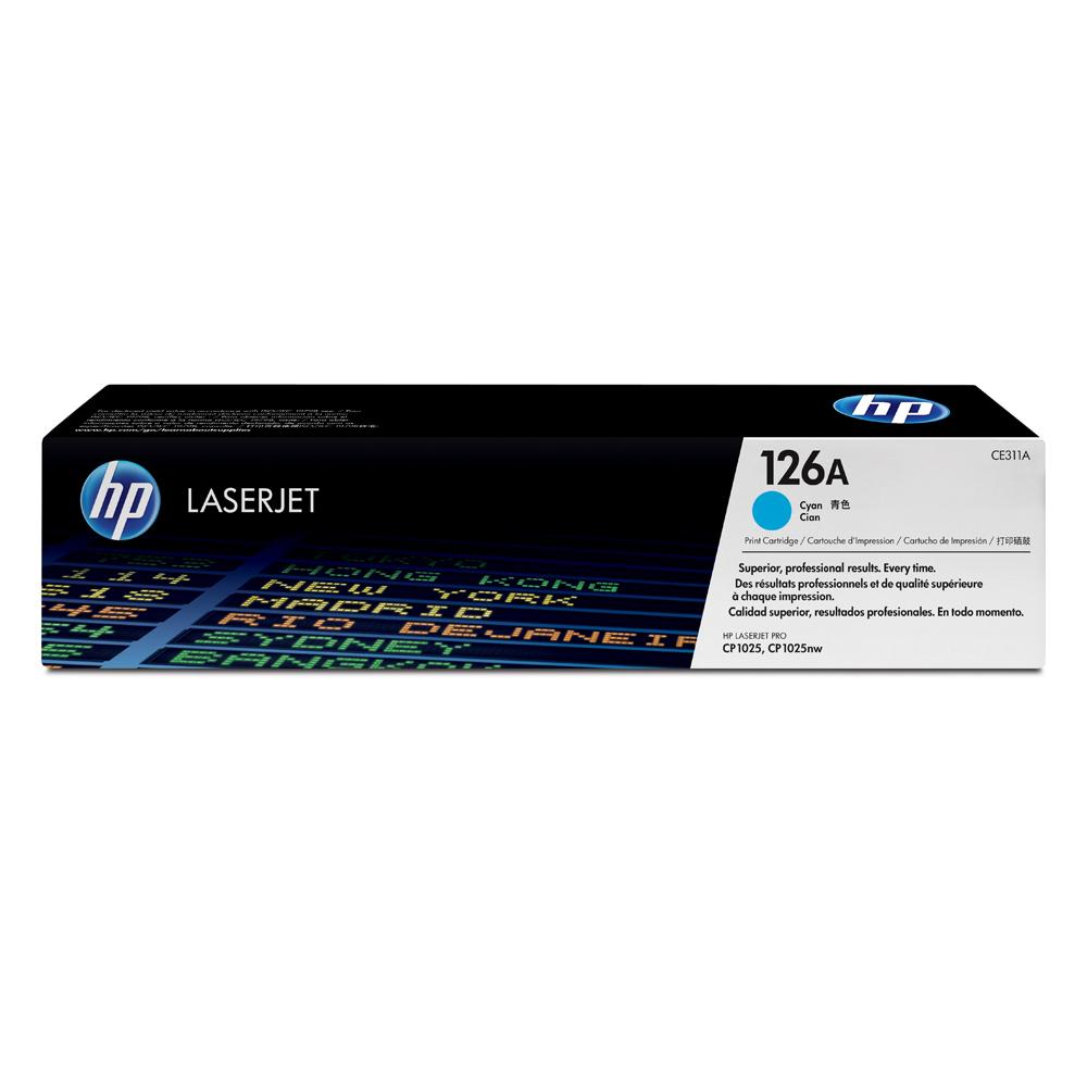 HP 126A LaserJet CP1025 Cyan Toner (CE311A) (HPCE311A)