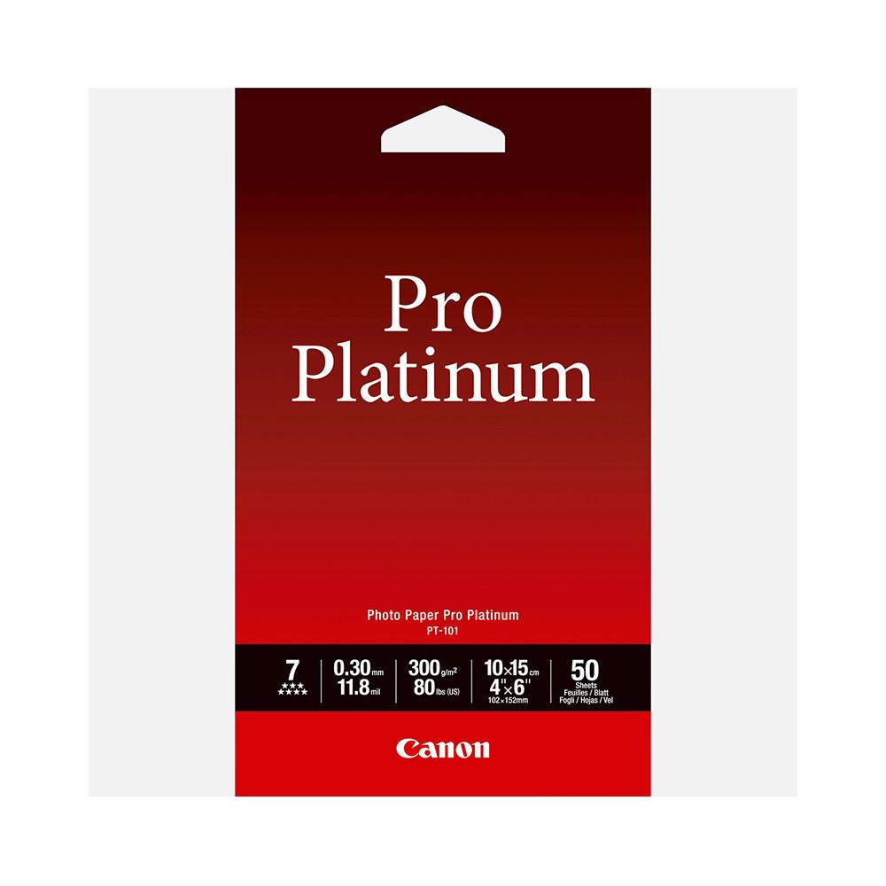 Φωτογραφικό Χαρτί Canon PT-101 Pro Platinum A6 10x15cm 300gr 50sheets (2768B014) (CAN-PT-101-A6)