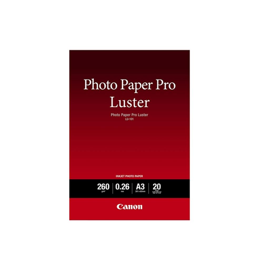 Φωτογραφικό Χαρτί Pro Luster CANON A3+ 260 g/m² 20 Φύλλα (6211B008AA) (CAN-LU101-A3)