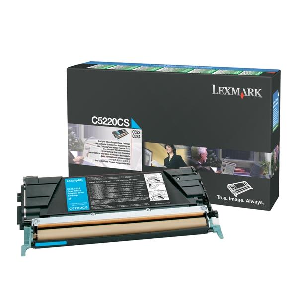 LEXMARK C522/524/530 CYAN TONER (3K) (C5220CS) (LEXC5220CS)
