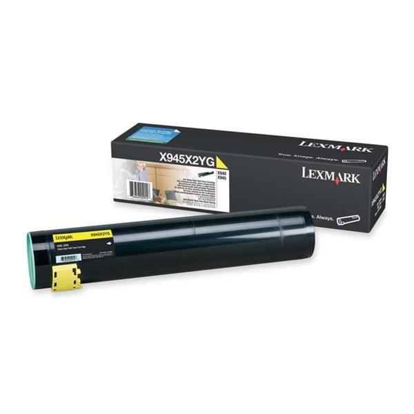 LEXMARK X940/945 YELLOW TONER (X945X2YG) (LEXX945X2YG)