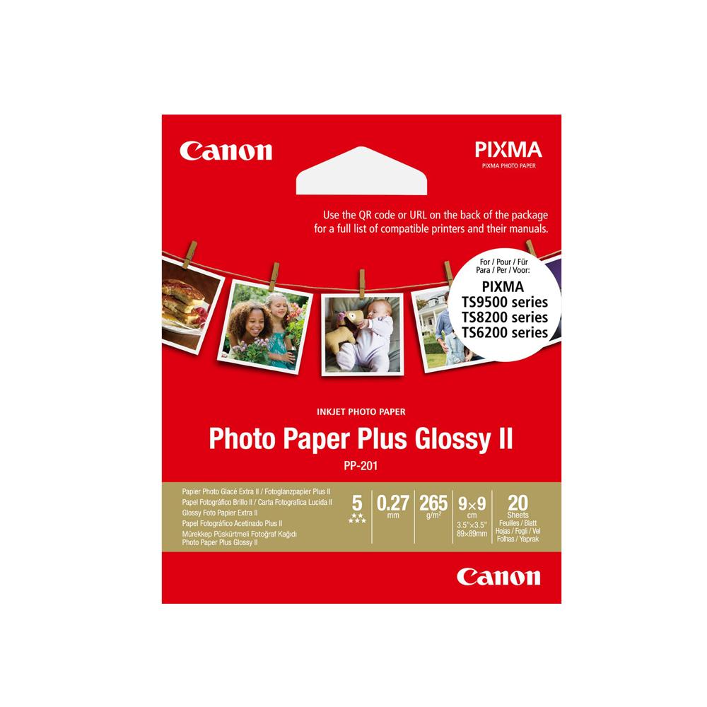 Φωτογραφικό Χαρτί CANON PP-201 (3,5x3,5 inch) 265 g/m2 20 Φύλλα (2311B070) (CAN-PP201-3)