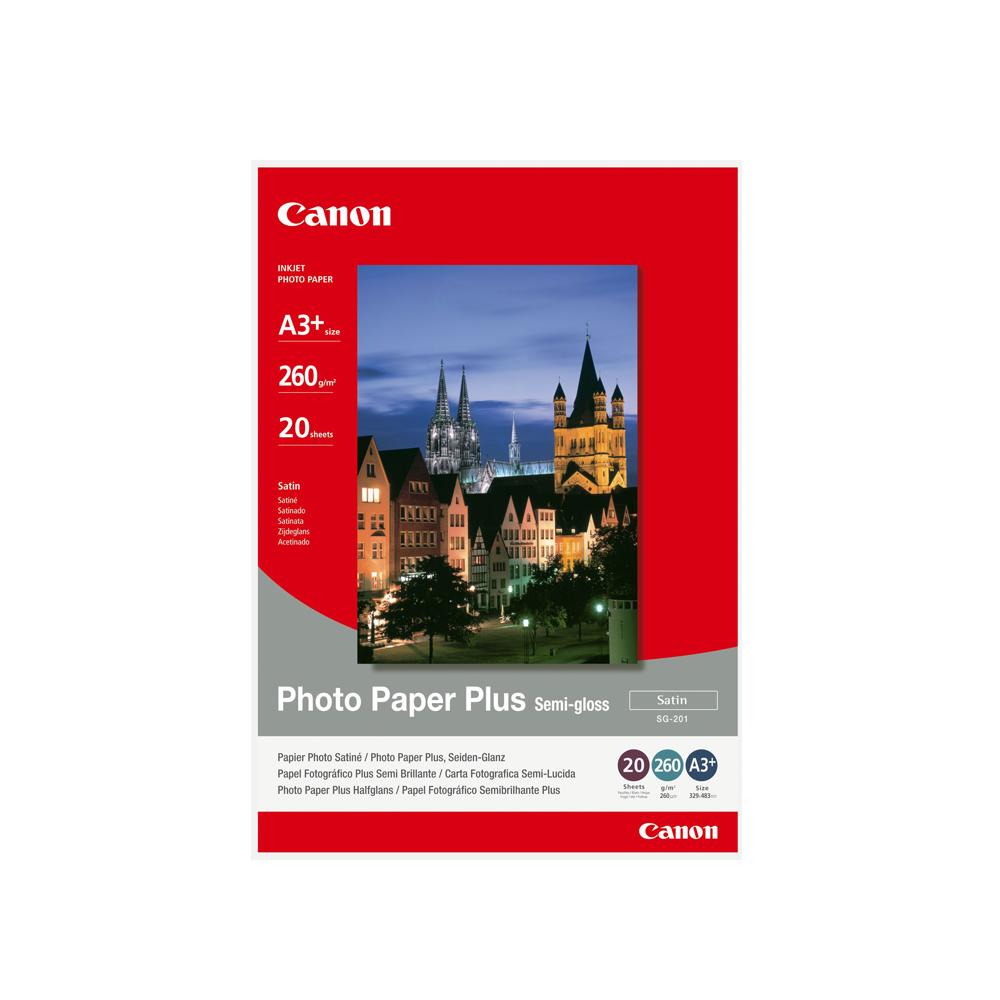 Φωτογραφικό Χαρτί CANON A3+ Semi Gloss 260g/m² 20 Φύλλα (1686B032) (CAN-SG201-A3)