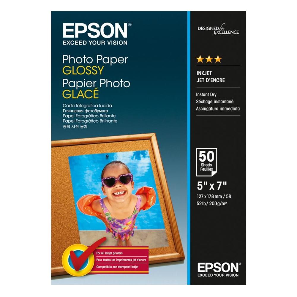Φωτογραφικό Χαρτί EPSON Glossy 13x18 cm 200 gr. 50 Φύλλα (C13S042545) (EPSS042545)