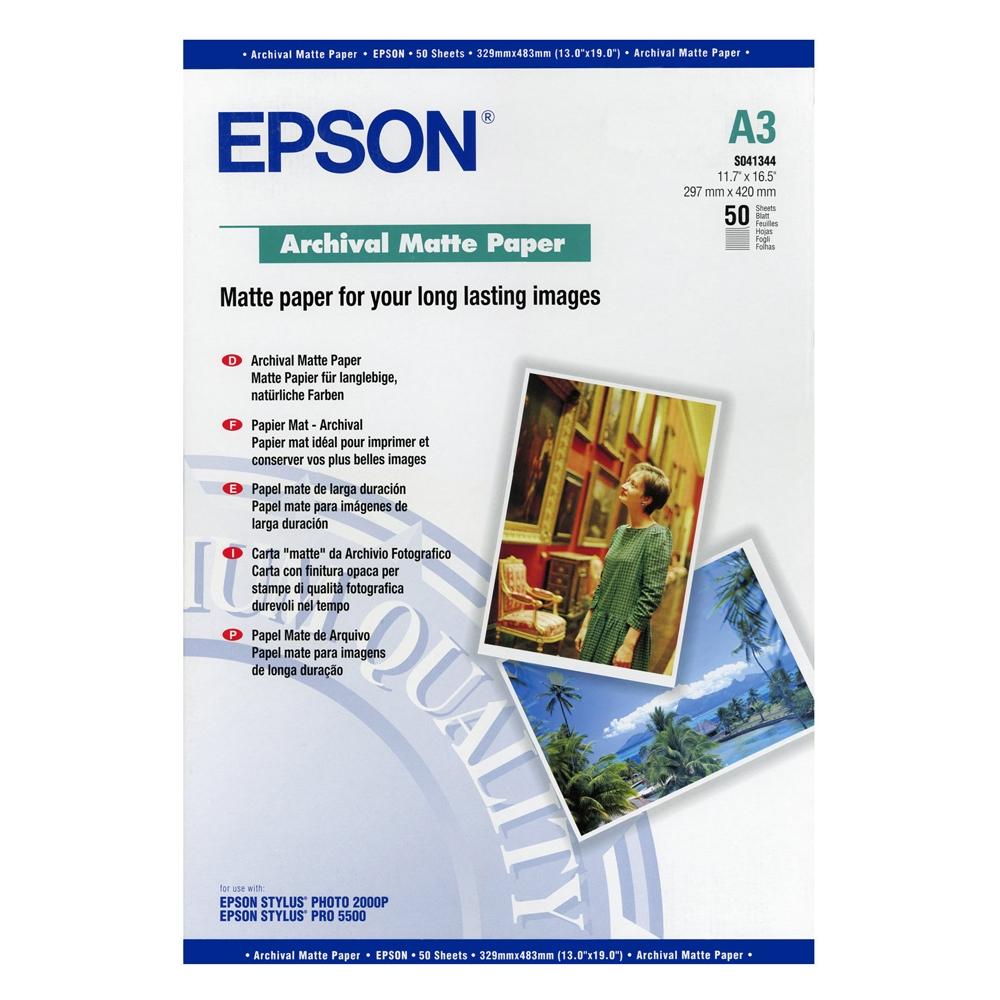 Φωτογραφικό Χαρτί EPSON Archival Matte Paper A3+ 192 gr.(C13S041340) (EPSS041340)