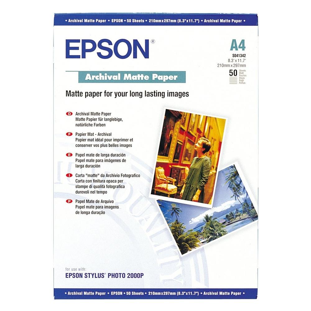 Φωτογραφικό Χαρτί EPSON A4 Archival Matte 192g/m² 50 Φύλλα (C13S041342) (EPSS041342)