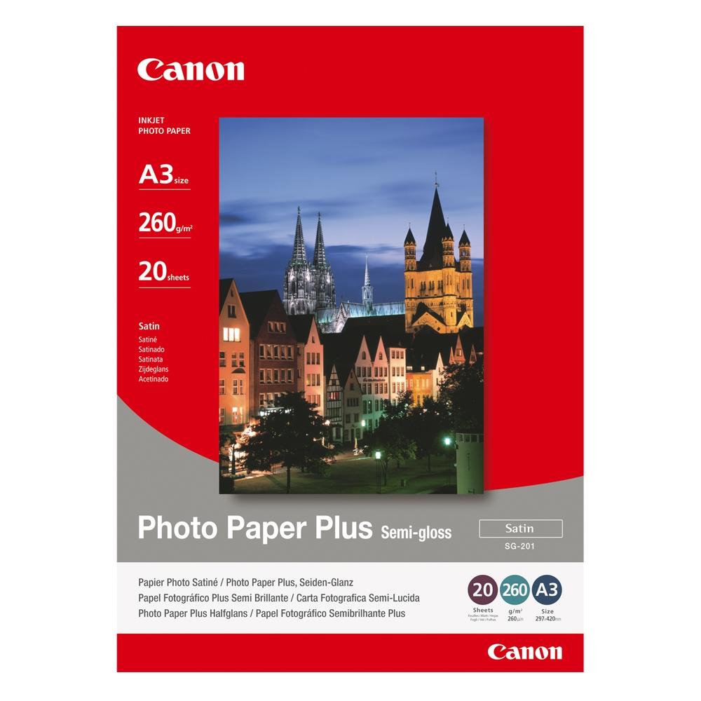 Φωτογραφικό Χαρτί CANON A3 Semi Gloss 260g/m² 20 Φύλλα (1686B026) (CAN-SG-201A3)