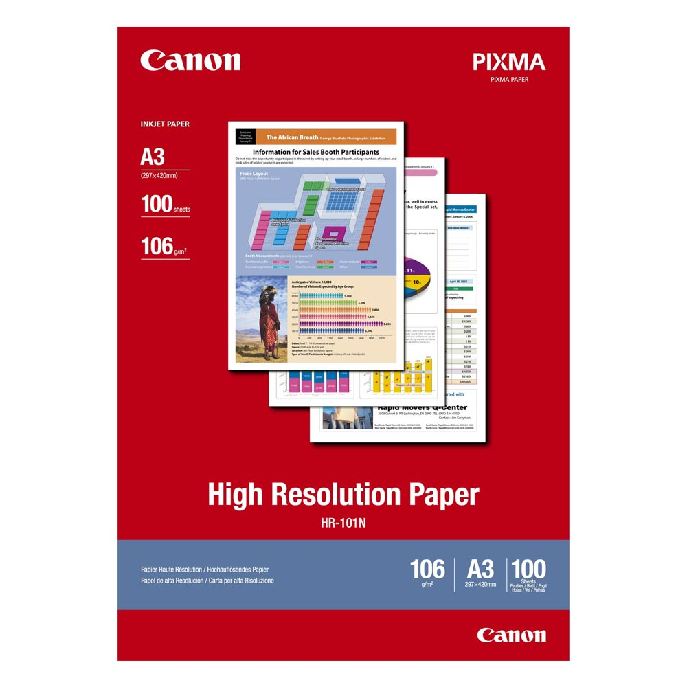 High Resolution Paper CANON A3 106g/m² 100 Φύλλα (1033A005) (CAN-HR-101A3)