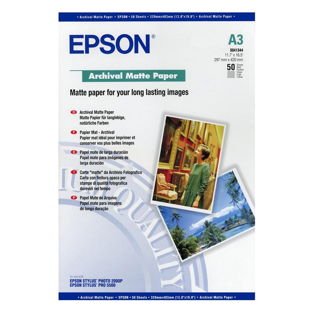 Φωτογραφικό Χαρτί EPSON A3 Archival Matte 192g/m² 50 Φύλλα (C13S041344) (EPSS041344)