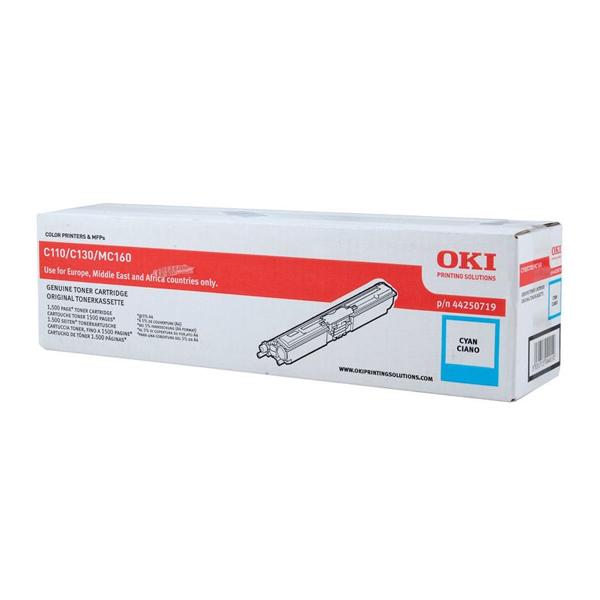 OKI C110/130/MC160 TONER CYAN 1.5K (44250719) (OKI-C110-C)