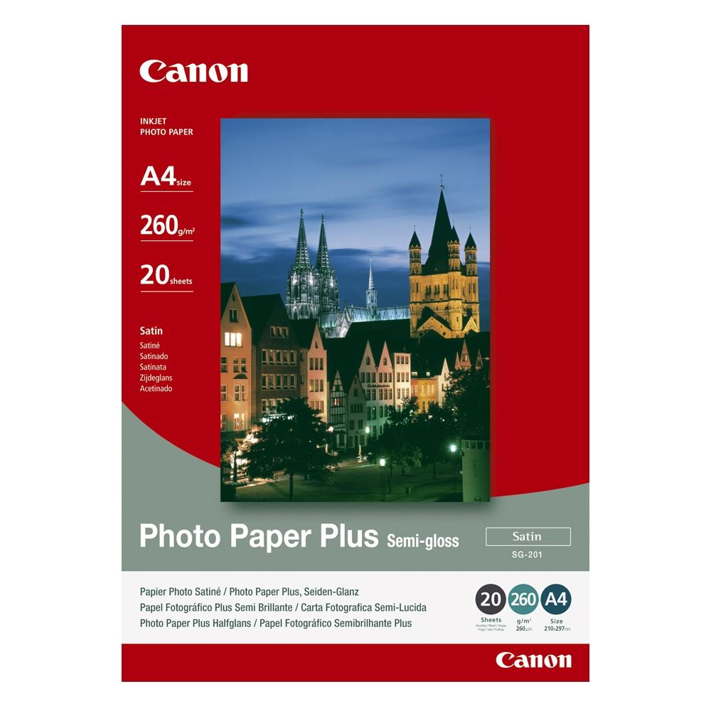 Φωτογραφικό Χαρτί CANON A4 Semi Gloss 260g/m² 20 Φύλλα (1686B021) (CAN-SG-201A4)