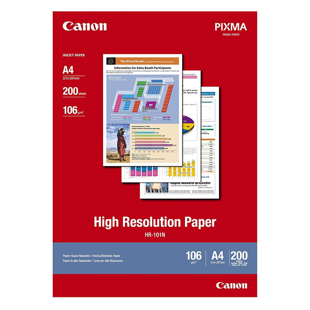 High Resolution Paper CANON A4 106g/m² 200 Φύλλα (1033A001) (CAN-HR-101A4200)
