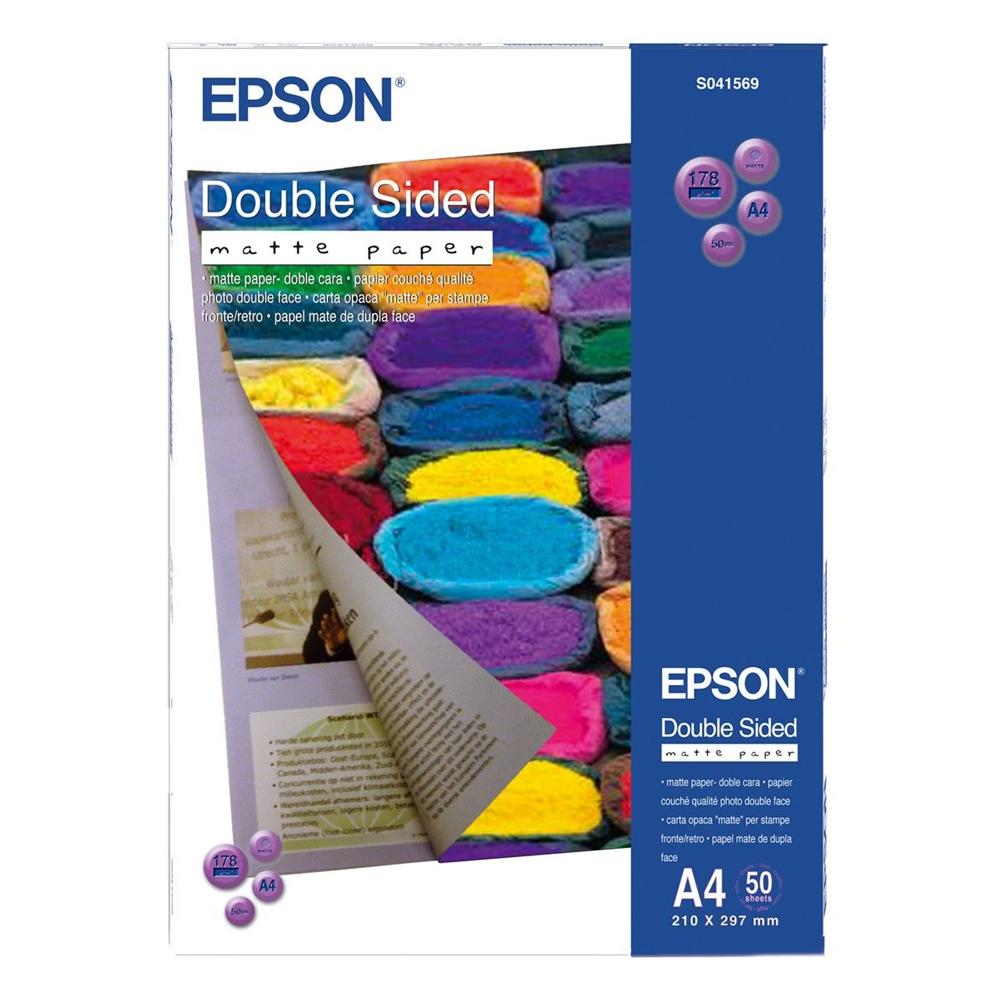 Χαρτί EPSON A4 Double-Sided Matte 178g/m² 50 Φύλλα (C13S041569) (EPSS041569)