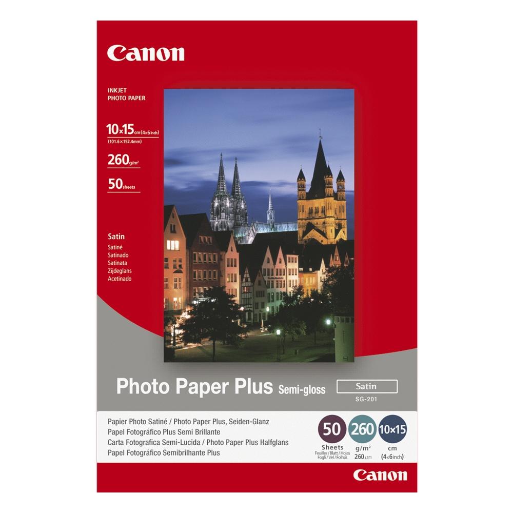 Φωτογραφικό Χαρτί CANON A6 Semi Gloss 260g/m² 50 Φύλλα (1686B015) (CAN-SG-201A6)
