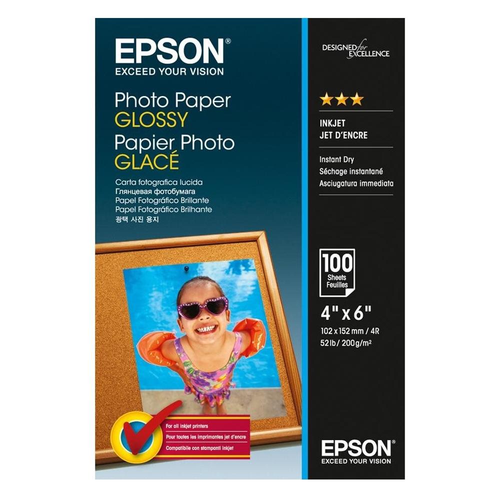 Φωτογραφικό Χαρτί EPSON Glossy 10x15cm 200 gr. 100 Φύλλα (C13S042548) (EPSS042548)
