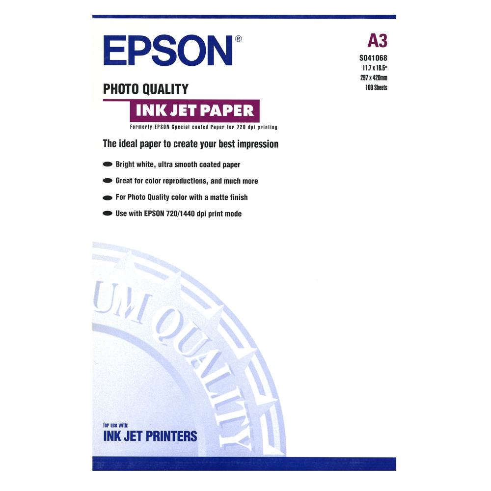Φωτογραφικό Χαρτί EPSON A3 Matte 105 g/m² 100 Φύλλα (C13S041068) (EPSS041068)