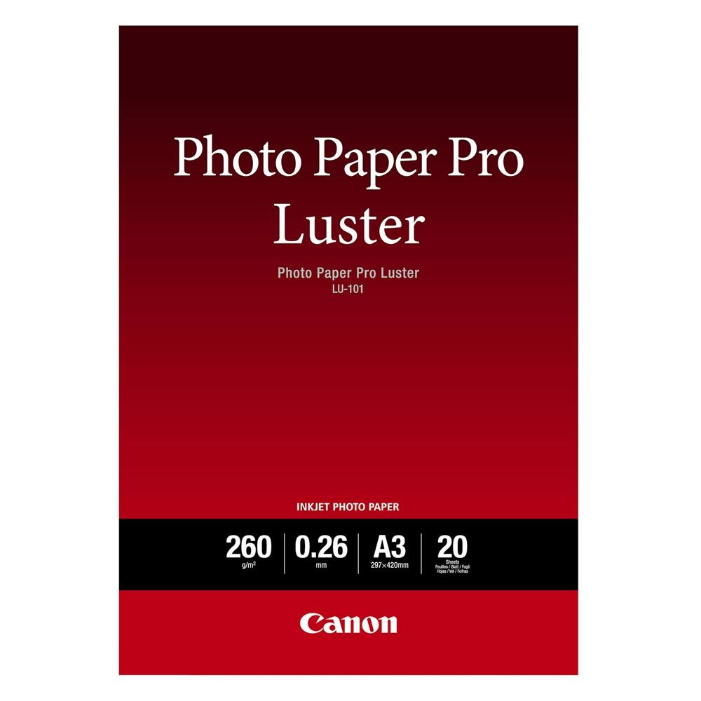 Φωτογραφικό Χαρτί Pro Luster CANON A3 Semi Glossy 260g/m² 20 Φύλλα (6211B007) (CAN-LU-101A3)
