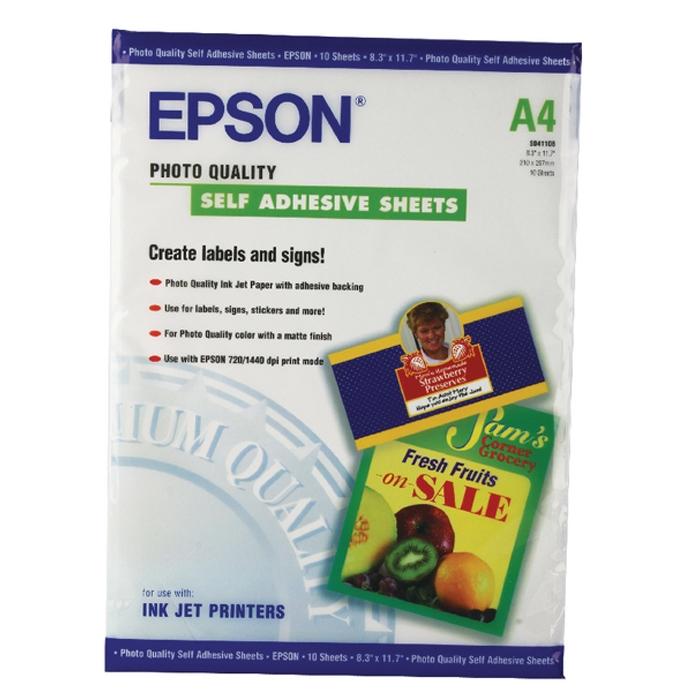 Φωτογραφικό Χαρτί EPSON A4 Self Adhesive 167 g/m² 10 Φύλλα (C13S041106) (EPSS041106)