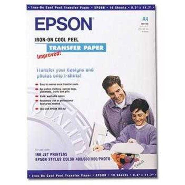 Χαρτί Iron-On-Transfer EPSON A4 124 g/m² 10 Φύλλα (C13S041154) (EPSS041154)