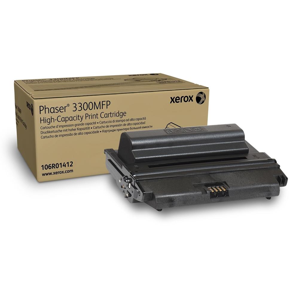 XEROX PHASER 3300MFP HC BLACK TONER (8k) (106R01412) (XER106R01412)