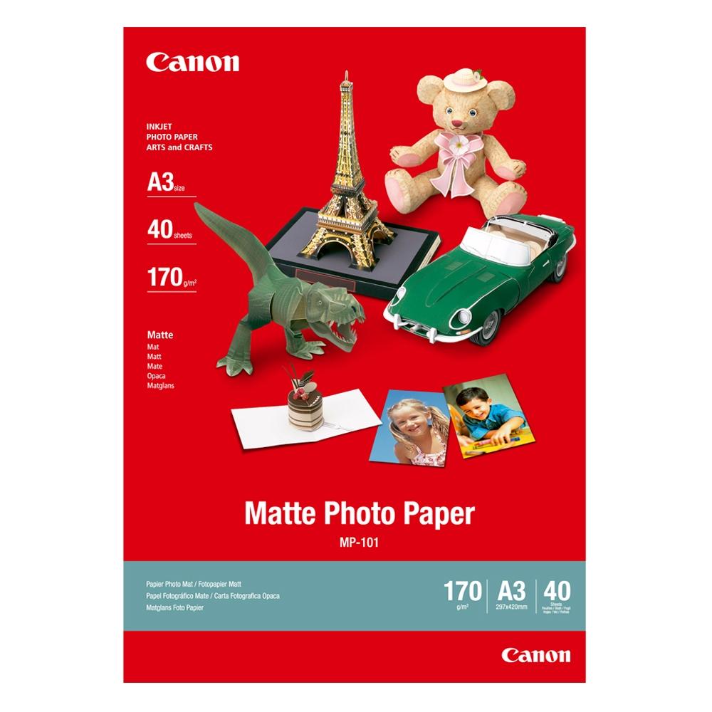 Φωτογραφικό Χαρτί CANON A3 Matte 170g/m² 40 Φύλλα (7981A008) (CAN-MP-101A3)