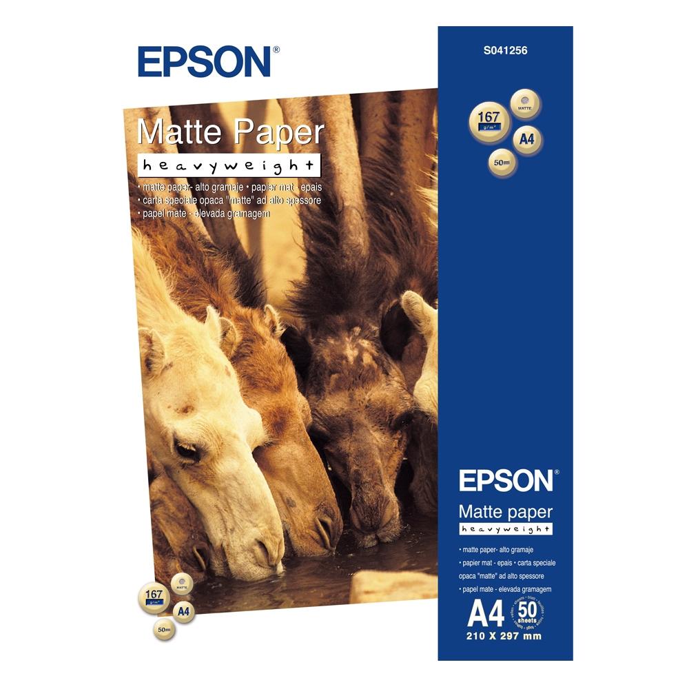 Φωτογραφικό Χαρτί Heavyweight EPSON A4 Matte 167 g/m²  50 Φύλλα (C13S041256) (EPSS041256)