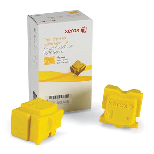 XEROX COLORQUBE 8570 YELLOW SOLID INK (2Pk, 4.4k) (108R00933) (XER108R00933)
