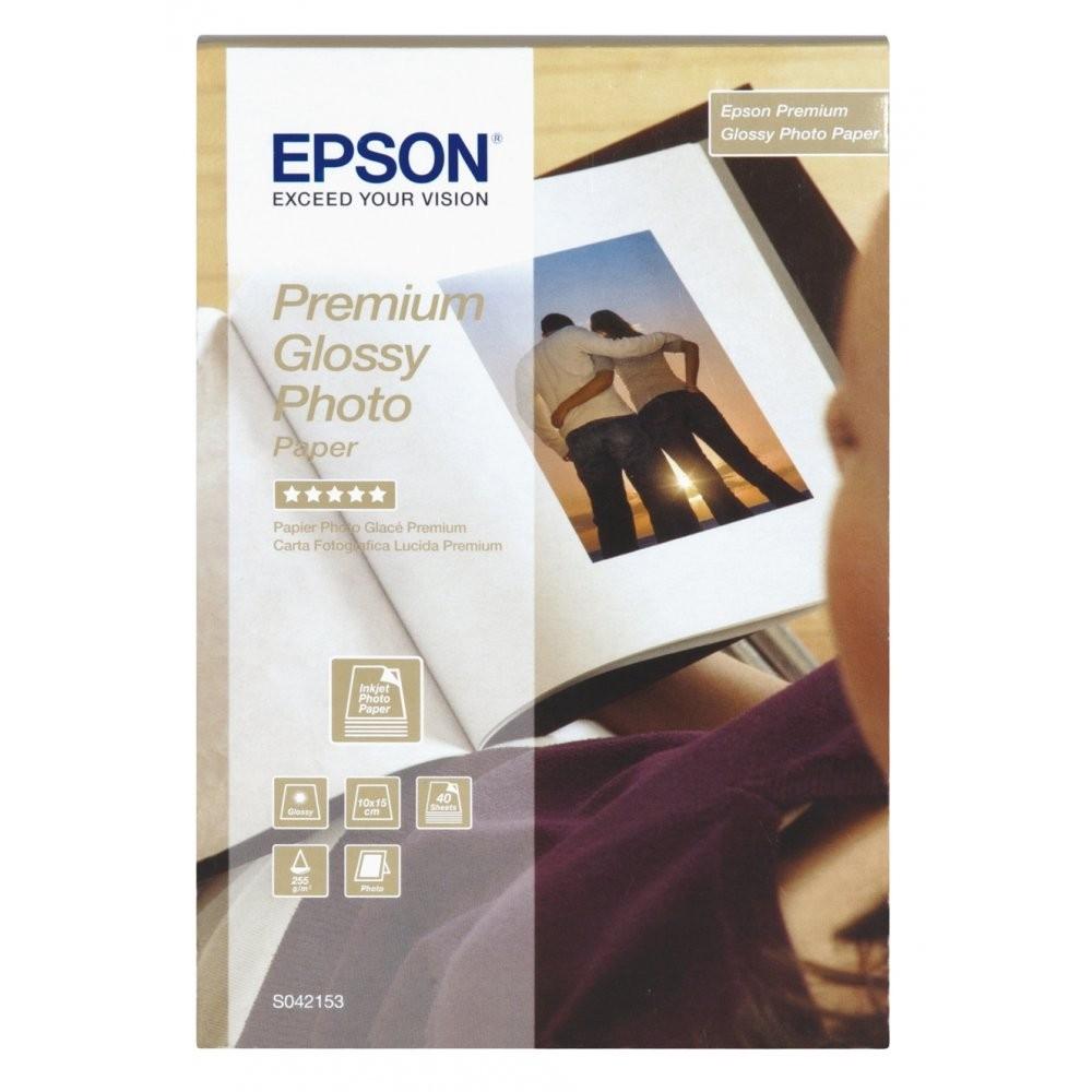 Φωτογραφικό Χαρτί EPSON A6 Glossy 255g/m² 40 Φύλλα (C13S042153) (EPSS042153)