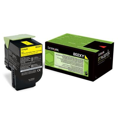 Toner Lexmark 80C2XY0 Yellow (80C2XY0) (LEX80C2XY0)