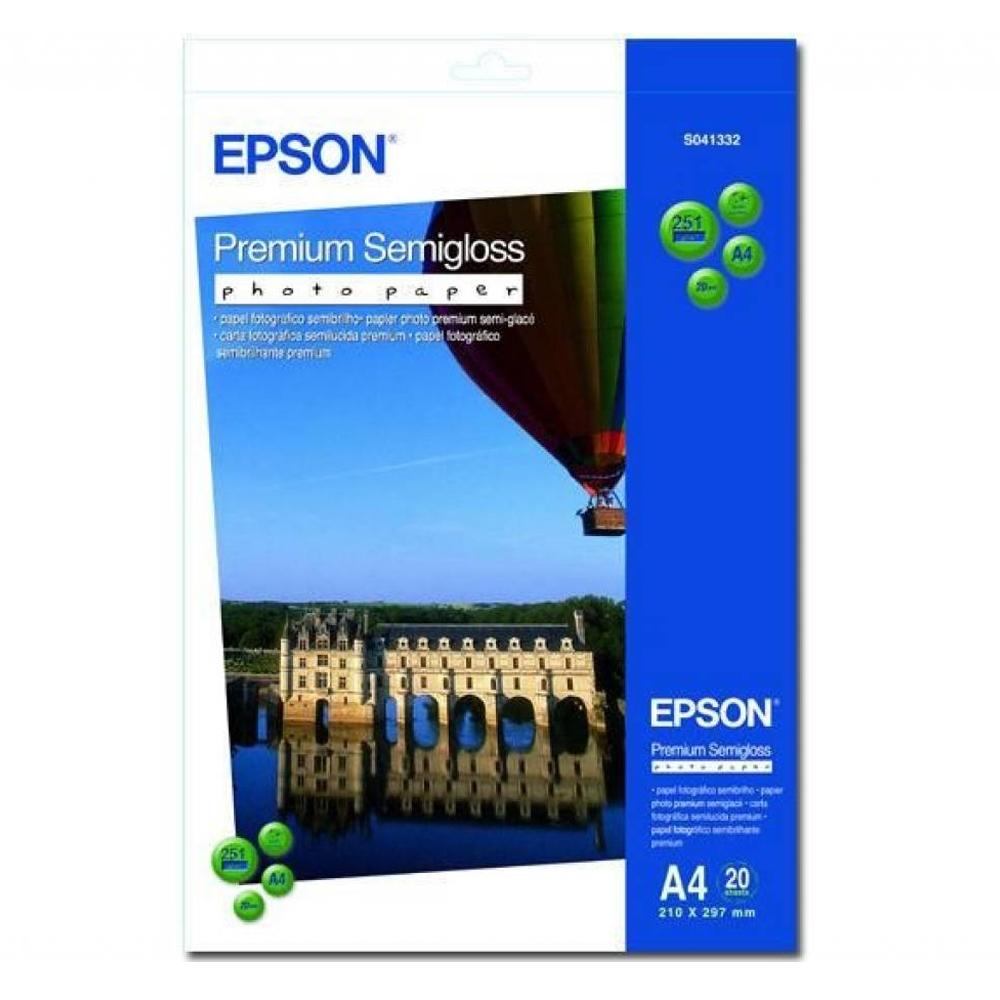 Φωτογραφικό Χαρτί EPSON A4 Semi Gloss 251g/m² 20 Φύλλα (C13S041332) (EPSS041332)