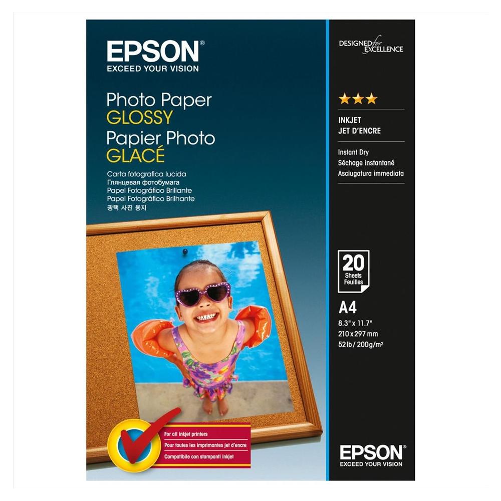 Φωτογραφικό Χαρτί EPSON Glossy A4 20 Φύλλα (C13S042538) (EPSS042538)