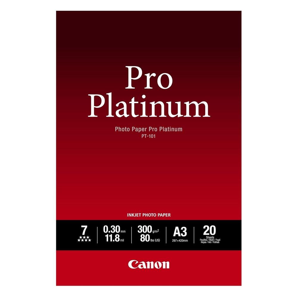 Φωτογραφικό Χαρτί Pro Platinum CANON A3 Glossy 300g/m² 20 Φύλλα (2768B017) (CAN-PT-101A3)