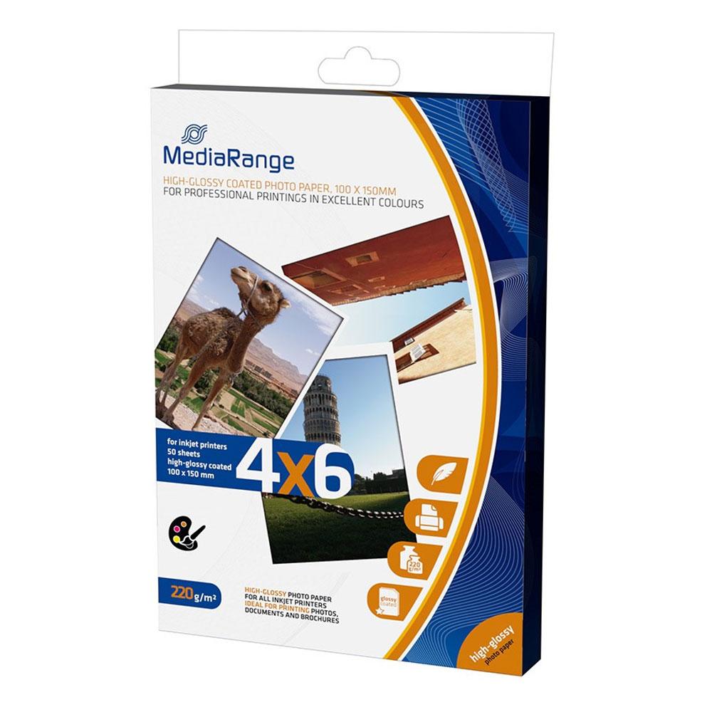 Φωτογραφικές Κάρτες MediaRange για Inkjet Εκτυπωτές High-Glossy 220g/m² 50 Φύλλα (MRINK104)