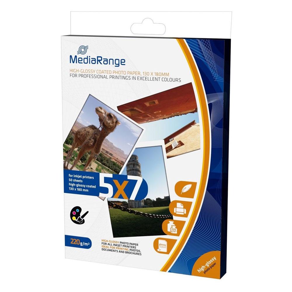 Φωτογραφικές Κάρτες MediaRange για Inkjet Εκτυπωτές High-Glossy 220g/m²  50 Φύλλα (MRINK114)