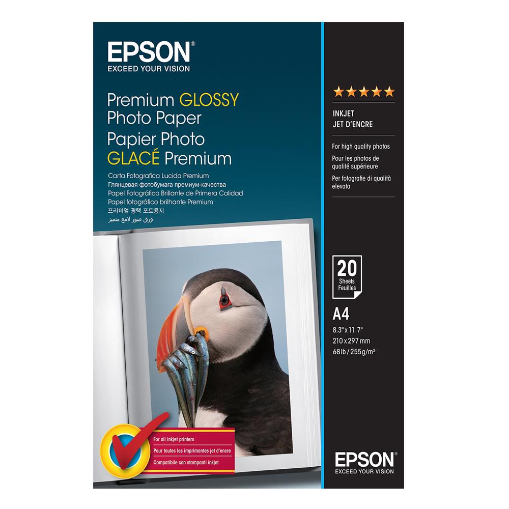 Φωτογραφικό Χαρτί EPSON A4 Premium Glossy 255 g/m²  20 Φύλλα (C13S041287) (EPSS041287)
