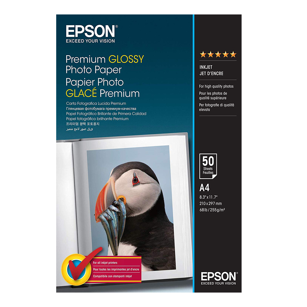 Φωτογραφικό Χαρτί EPSON A4 Premium Glossy 255 g/m²  50 Φύλλα (C13S041624) (EPSS041624)