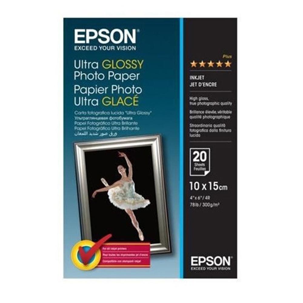Φωτογραφικό Χαρτί EPSON 10x15 cm Ultra Glossy 300 g/m²  20 Φύλλα (C13S041926) (EPSS041926)