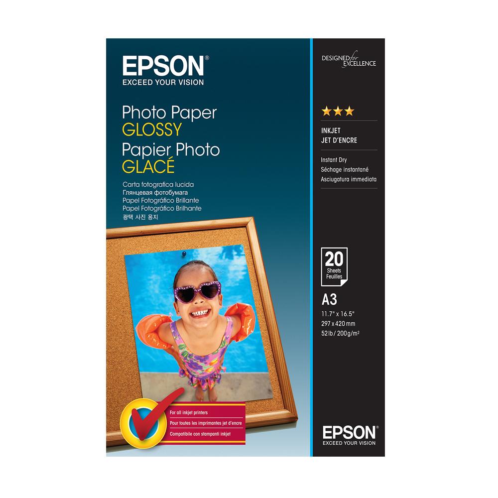 Φωτογραφικό Χαρτί EPSON A3 Glossy 200 g/m²  20 Φύλλα (C13S042536) (EPSS042536)