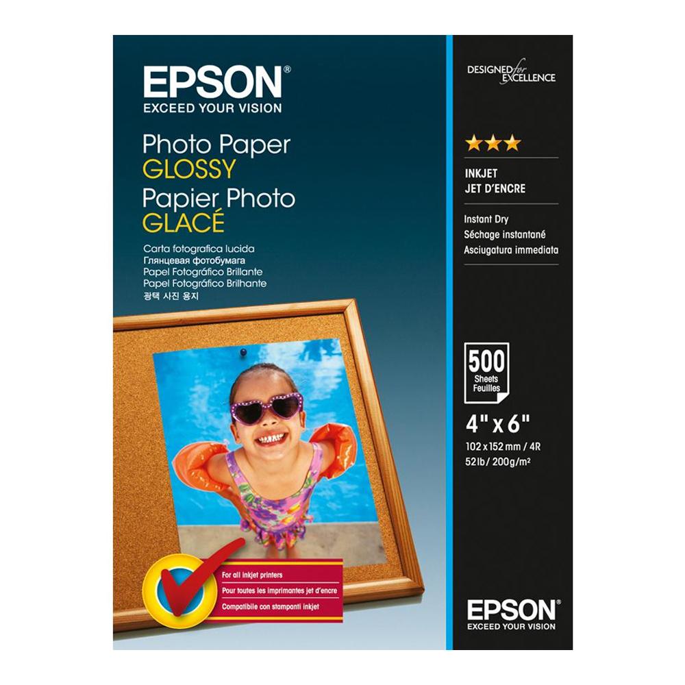 Φωτογραφικό Χαρτί EPSON Glossy 10x15 cm 200 g/m²  500 Φύλλα (C13S042549) (EPSS042549)