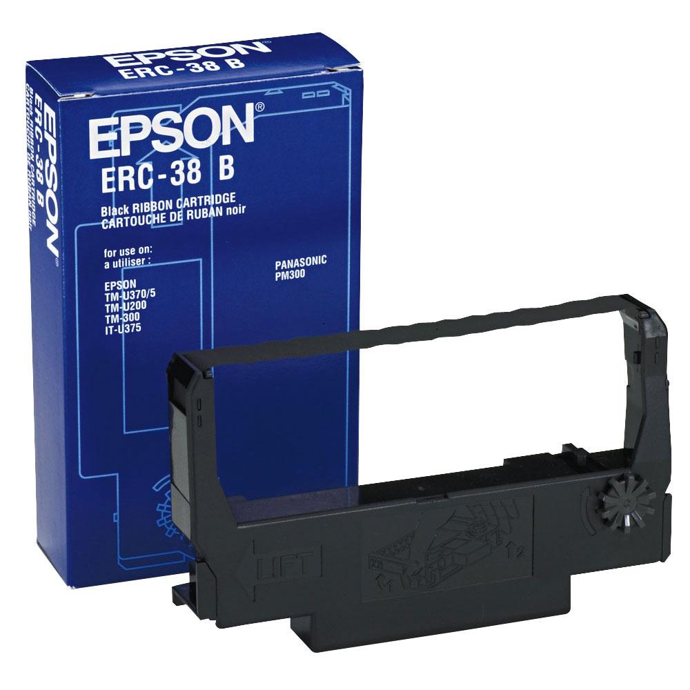Epson Μελανοταινία ERC-38B Black/Red (C43S015376) (EPSS015376)