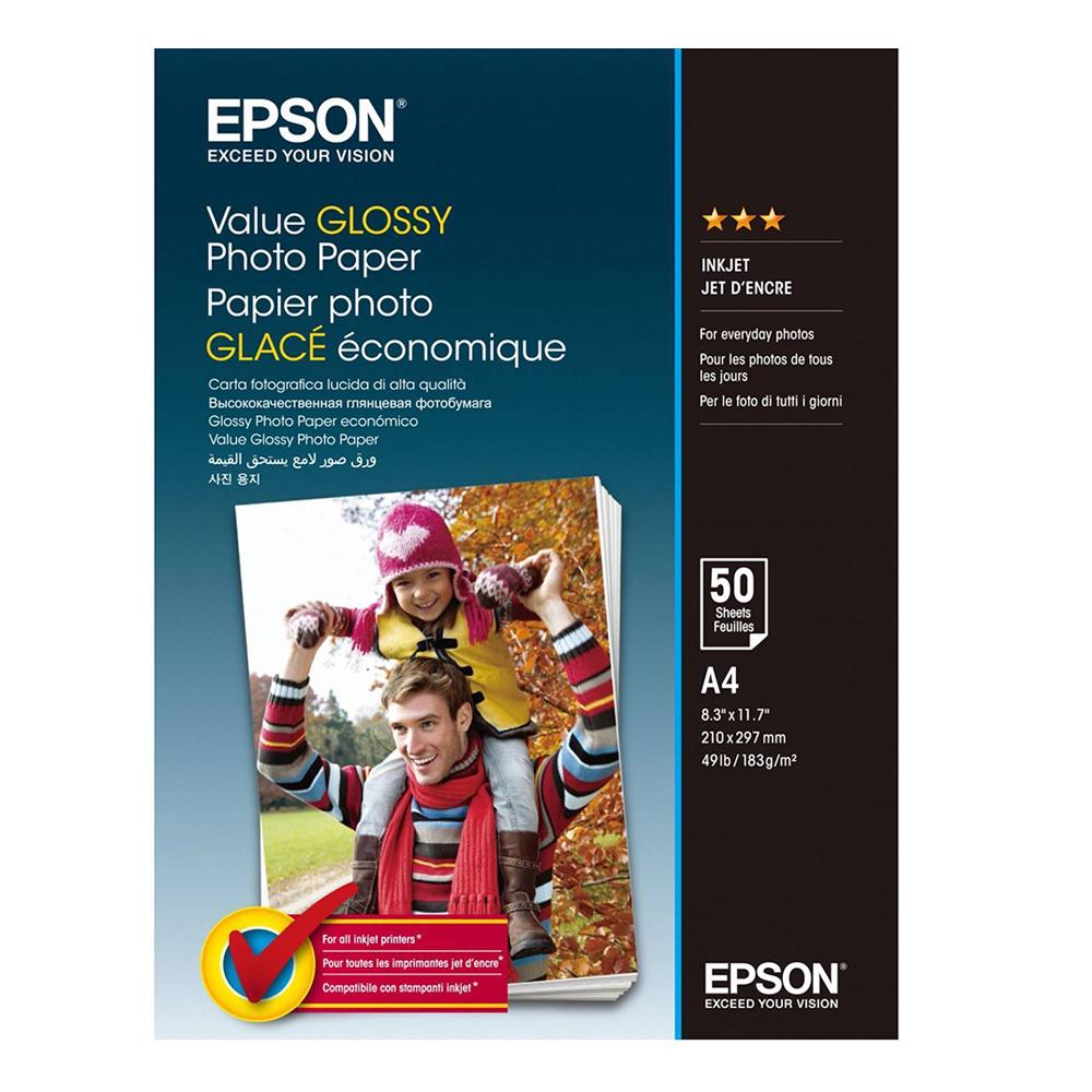 Φωτογραφικό Χαρτί EPSON Value Glossy A4 183 g/m²  50 Φύλλα (C13S400036) (EPSS400036)
