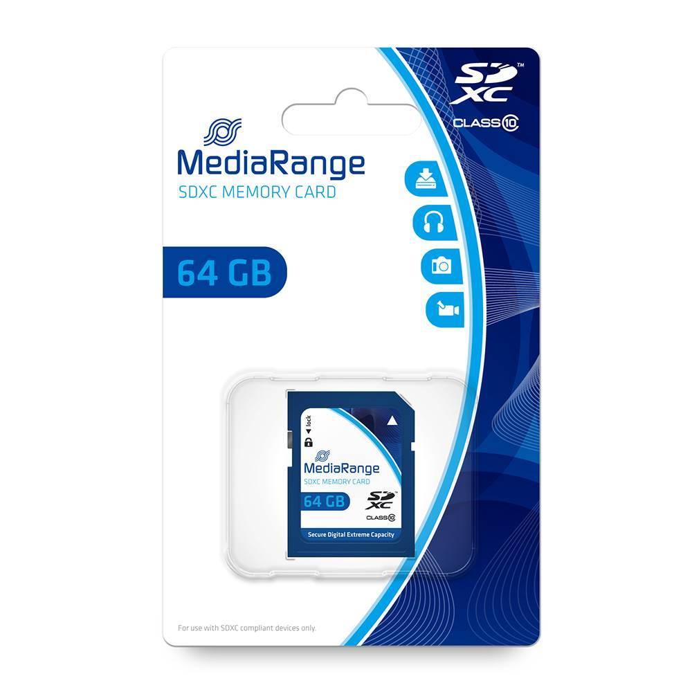 MediaRange SDXC Class 10 64 GB (eXtended Capacity) (MR965)