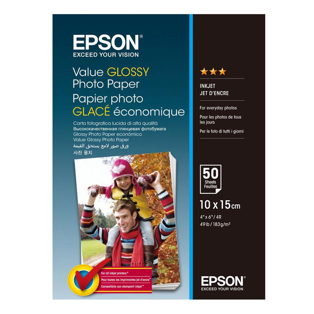 Φωτογραφικό Χαρτί EPSON Value Glossy 10x15cm 183 g/m²  50 Φύλλα (C13S400038) (EPSS400038)
