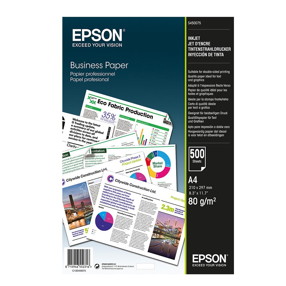 Χαρτί EPSON Business Paper A4 80 g/m² 500 Φύλλα (C13S450075) (EPSS450075)