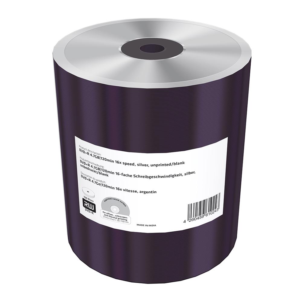 MediaRange DVD+R 4.7GB 120min 16x speed, silver, unprinted/blank, Shrink 100 (MR423)